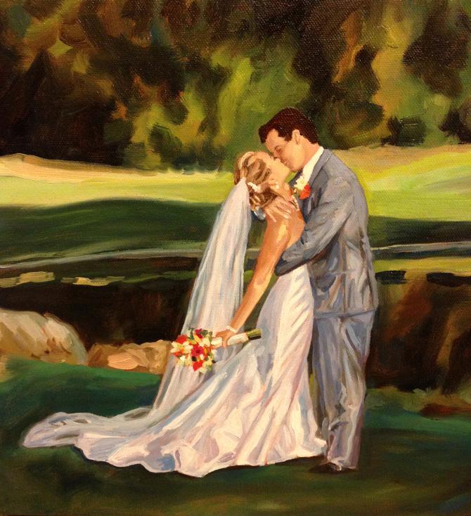 wedding paintings julia cost