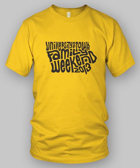 Family weekend t shirt jeff vial graphic design portfolio for University of iowa shirts