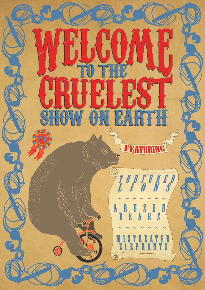animal abuse in the circus Life under the big top is not the wholesome, fun-loving, educational experience the circus industry would like you to think it is for the animals, life is a monotonous and brutal routine of boredom, stress and pain in short, traveling animal acts perpetuate animal cruelty, inhumane care, public safety hazards and distorted images of wildlife.