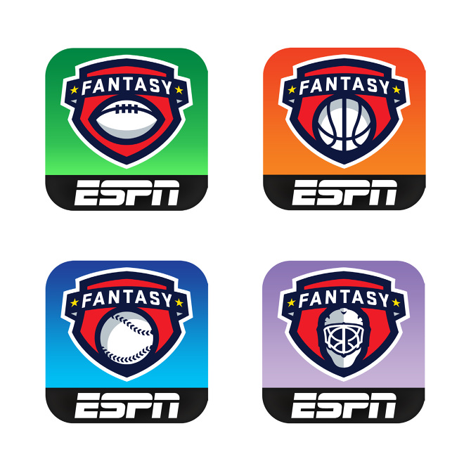 ESPN Fantasy Football Logo and App icon - Keir Novesky